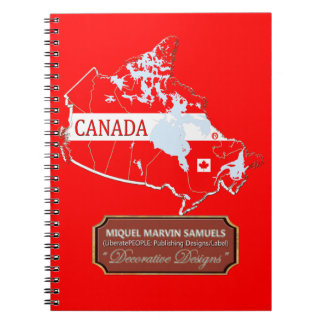 Cadernos A bandeira do esboço do país de Canadá colore o