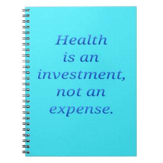Cadernos A saúde é um investimento…