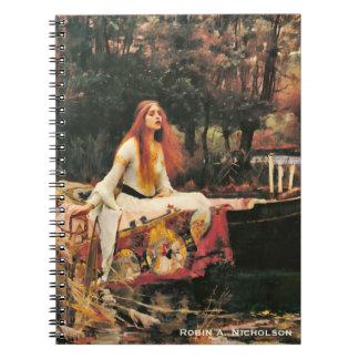 Cadernos A senhora do Waterhouse de Shalott personalizou