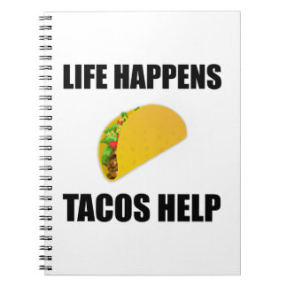 Cadernos A vida acontece ajuda do Tacos