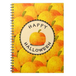Cadernos Abóboras o Dia das Bruxas feliz