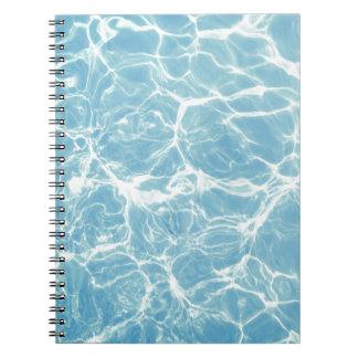 Cadernos Água da piscina, piscina, natação, verão