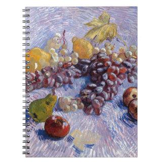Cadernos Ainda vida: Maçãs, peras, uvas - Van Gogh