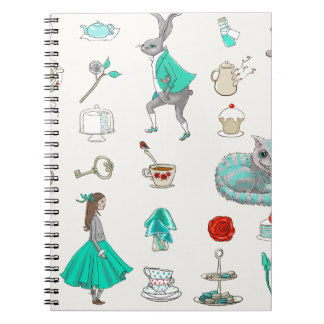 Cadernos Alice no país das maravilhas