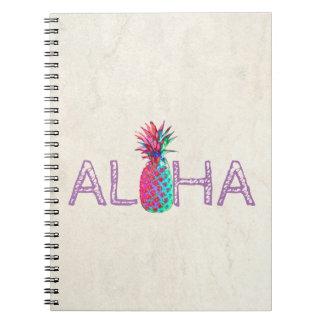 Cadernos Aloha abacaxi havaiano adorável