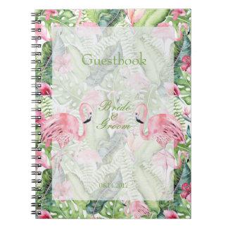 Cadernos Aloha livro de hóspedes tropical do casamento de