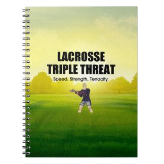 Cadernos Ameaça SUPERIOR triplicar-se do Lacrosse