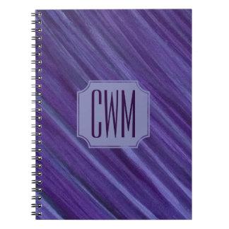 Cadernos Ameixa roxa do Lilac do monograma indiferente do