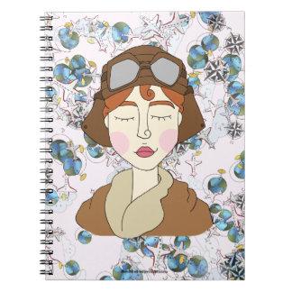 Cadernos Amelia Earhart - mulheres notáveis