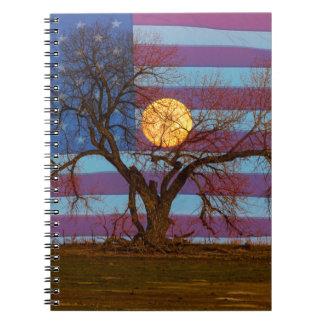 Cadernos Americano novembro Supermoon