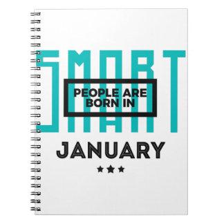 Cadernos Aniversário esperto dos bebês do nascer em janeiro