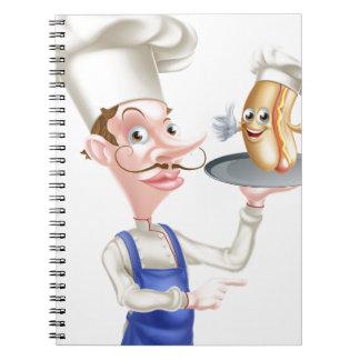 Cadernos Apontar do cozinheiro chefe dos desenhos animados