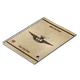 Cadernos Asas do piloto de Bush dos alces do vôo