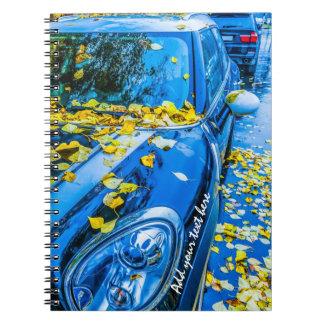 Cadernos Automóvel, carro - estação das folhas caídas
