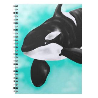 Cadernos Baleia bonito da orca