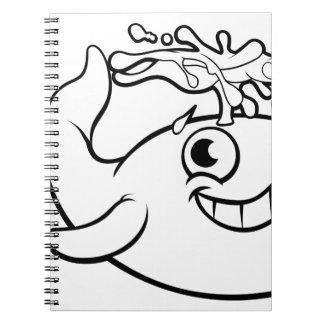 Cadernos Baleia dos desenhos animados