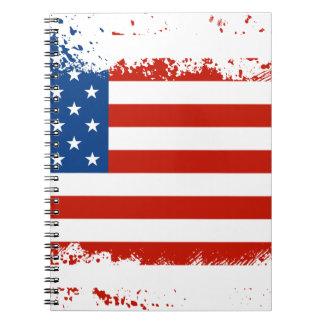 Cadernos Bandeira americana afligida