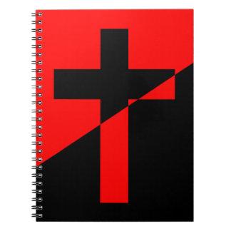 Cadernos Bandeira cristã da cristandade da anarquia do