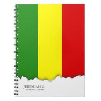 Cadernos Bandeira do orgulho de Rastafarian