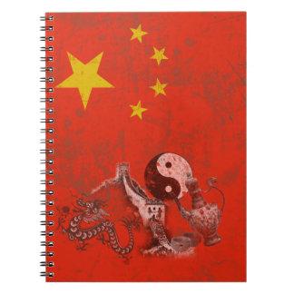 Cadernos Bandeira e símbolos de China ID158