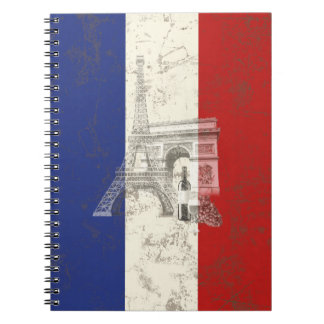 Cadernos Bandeira e símbolos de France ID156