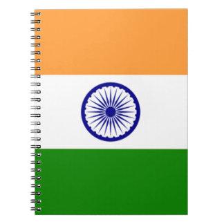 """Cadernos Bandeira indiana """"Tiranga """" da boa cor"""