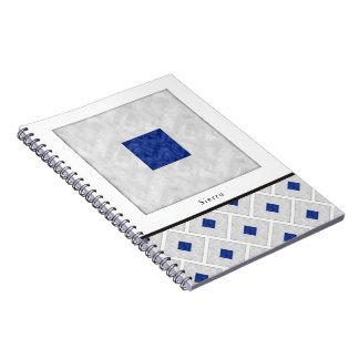 Cadernos Bandeira marítima do sinal náutico da aguarela