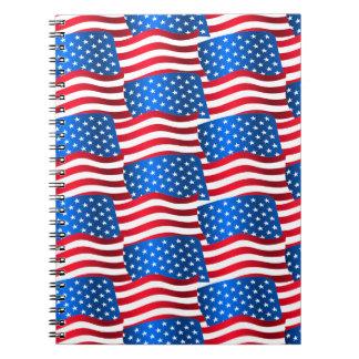 Cadernos Bandeiras dos EUA