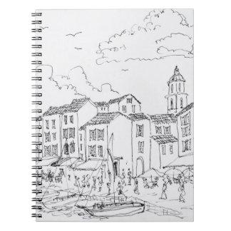 Cadernos Beira-rio   Riviera francês do Santo-Tropez,