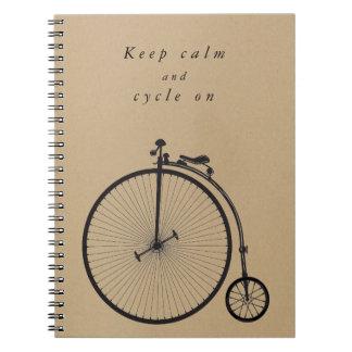 Cadernos Bicicleta velha, bicicleta, velocipede - ao ciclo