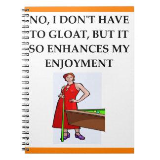 Cadernos bilhar
