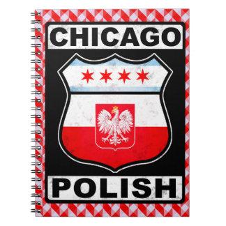 Cadernos Bloco de notas americano polonês de Chicago