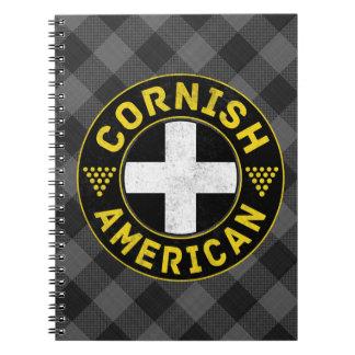Cadernos Bloco de notas Cornish da bandeira americana