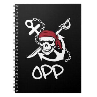 Cadernos Bloco de notas de OPP  