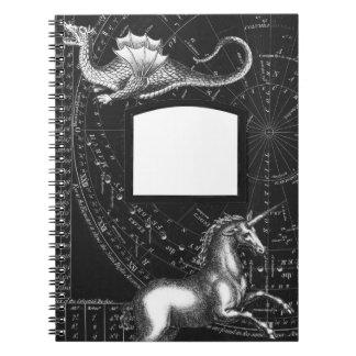 Cadernos Bloco de notas mágico da constelação das criaturas