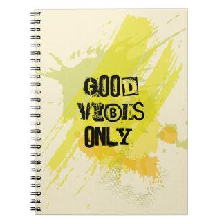 """Cadernos """"Boas impressões somente. """"Citações Uplifting"""