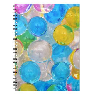 Cadernos bolas da água