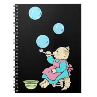 Cadernos Bolhas de sopro do tubo - desenhos animados do