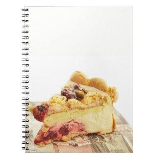 Cadernos bolo do pistashio do yougyrt