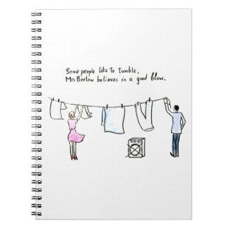 Cadernos Bom sopro da piada rude da lavanderia