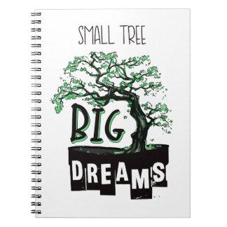Cadernos Bonsais - sonhos grandes da árvore pequena