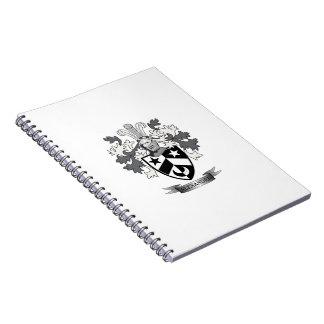 Cadernos Brasão da crista da família de Alexander