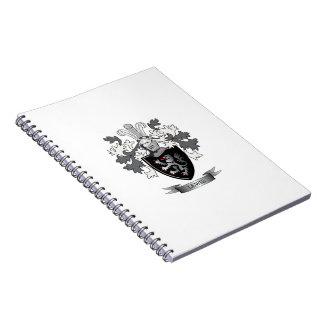 Cadernos Brasão da crista da família de Lewis