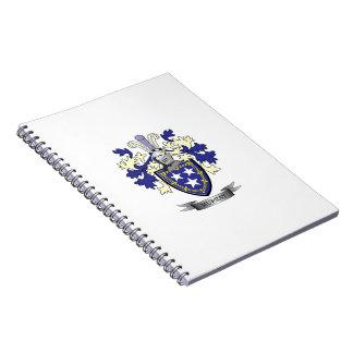 Cadernos Brasão da crista da família de Murray