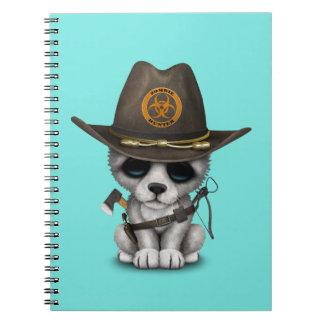 Cadernos Caçador bonito do zombi de Cub de lobo