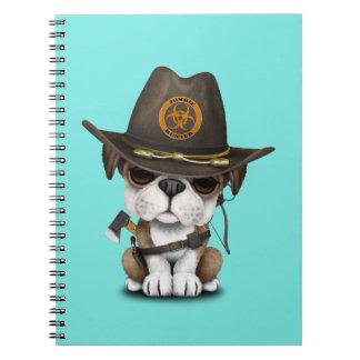Cadernos Caçador bonito do zombi do filhote de cachorro do