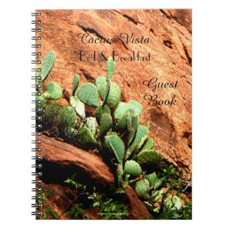 Cadernos Cacto de suspensão do livro de hóspedes da cama &