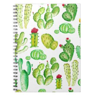 Cadernos Cactos da aguarela