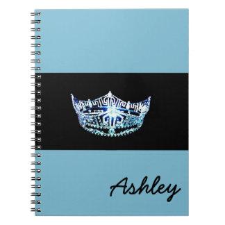 Cadernos Caderno-Coroa do estilo da senhorita América &