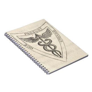 Cadernos Caduceus no protetor
